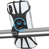 APSONAR Support Téléphone Vélo,Support téléphone Moto de Guidon Rotatif Réglable en Silicone à 360°avec Système A-Vibrations pour 4-6.5'' Smartphones,Moto Poussette et Golf Trolley Paniers