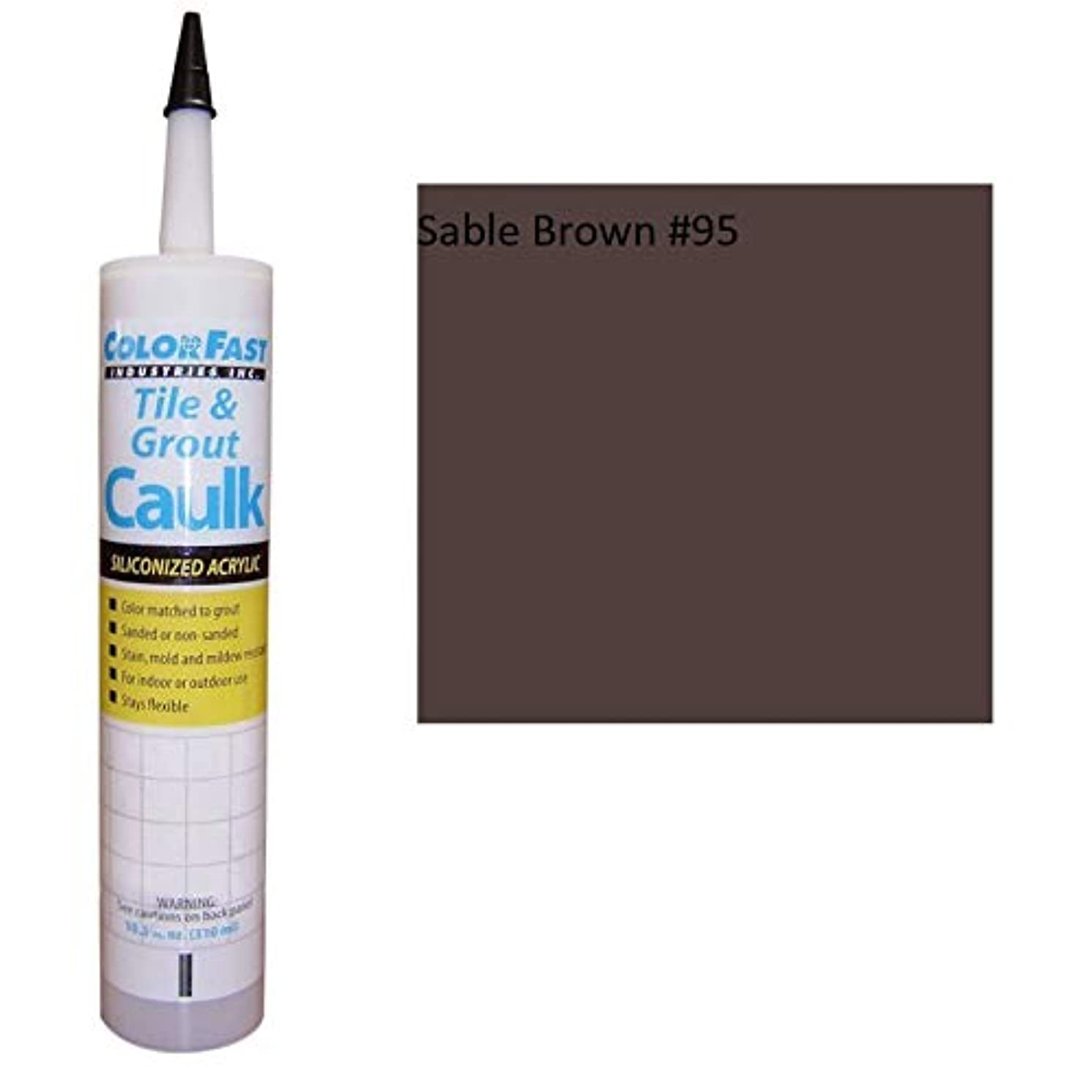 Color Fast Caulk Matched to Custom Building Products (Sable Brown Unsanded)