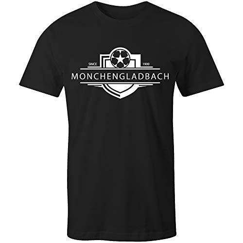 Sporting Empire Borussia Mönchengladbach 1900 Established Badge Fußball T-Shirt Gr. XL, Schwarz