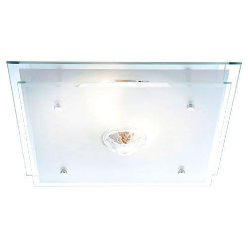 GLOBO MALAGA cristal la luz de techo 2x60W