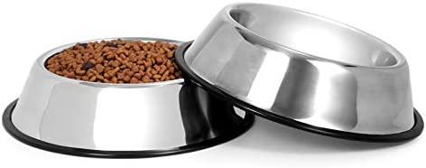 KASBAH Stainless Steel Dog Bowls Set of 2 Skid Resistant Pets Feeder Bowl Water Bowl for Dogs product image