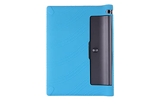 Funda para niños Tabla de Yoga 3 10 X50L X50M Caja de la Caja de Silicona Suave para Lenovo Tabla de Yoga 3 10.1 x50 x 50m 10.0 Tablet PC-Azul
