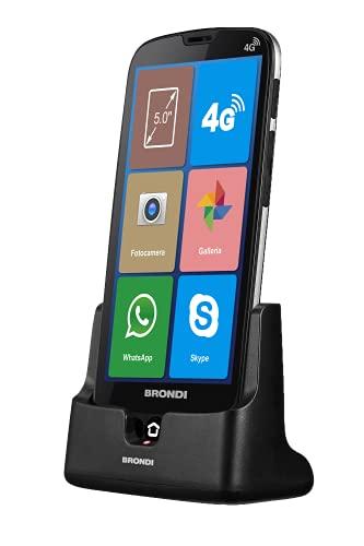 BRONDI 10277080, Smartphone Amico Smartphone XS Nero 5.0  Smartphone Dual Sim
