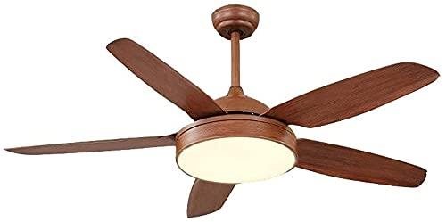 SHU Silencioso techo ventilador luz americano techo ventilador lámpara de techo vanguardia luz simple amaderada interior iluminación techo ventilador luz eléctrico ventilador luz luz ahorro de energía