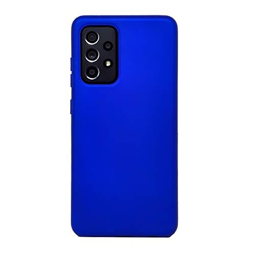 Vinciann pellicola vetro con custodia cover per Samsung Galaxy A52 A526B SMOOTH CASE protezione BLU ELETTRICO