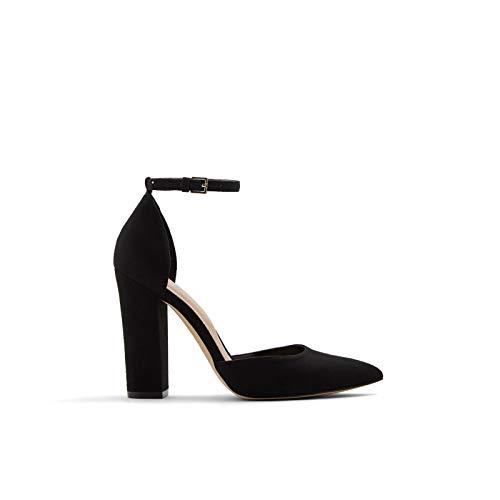 ALDO Women's Nicholes Block Heel Pump, Black Other, 6.5