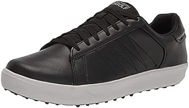Skechers Men's Drive 4 LX Plus Relaxed Fit Waterproof Golf Shoe, Black/Gray, 10.5