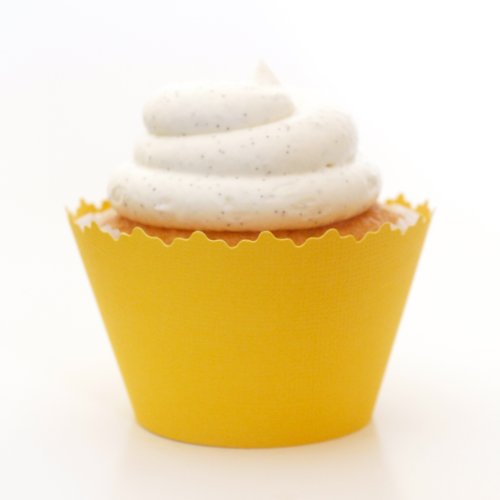 Dandelion Yellow Cupcake Wrappers - Set of 12 - Cup Cake Liner a Great Accessory At Summer Parties, Bridal Showers & Anniversaries
