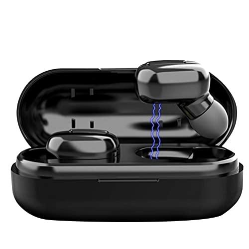 LIXBD Écouteurs intra-auriculaires sans fil 500 mAh pour le sport avec étui de chargement pour téléphone