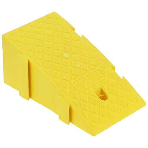 Rampa de umbral, rampa de acera portátil resistente al desgaste Plástico PP de alta resistencia para pendientes de acera para garajes de casas para entradas de casas para muelles de carga(amarillo)