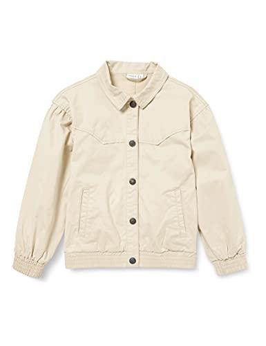NAME IT Mädchen NKFATHILSES TWI Jacket DD Jacke, Oatmeal, 152
