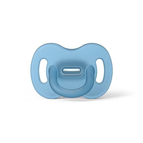 SUAVINEX Nuevo Chupete Para Dormir Todo Silicona, Para Bebés 6/18 Meses, Chupete Con Tetina Fisiológica Sx Pro, Super Blandito Y Flexible, color Azul, 6-18 Meses, 4000 g