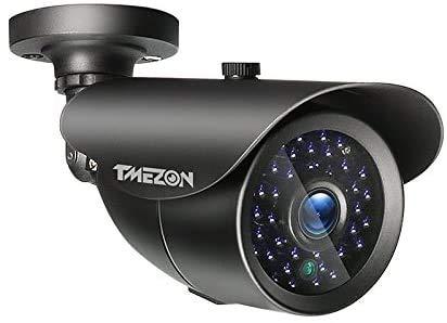 TMEZON Überwachungskamera 960H CCTV-Kamera mit Weatherprof, Nachtsicht, kann mit TMEZON Video-Türsprechanlage MZ-VDP-739EM, MZ-IP-V739B verwendet Werden
