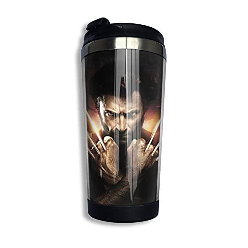 X-Men Wolverine Cup - Taza de café con aislamiento al vacío, de acero inoxidable 304, bonito y práctico 400 ml