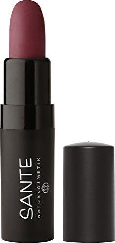 SANTE Natuurcosmetica Lipstick Mat Matte Lippenstift, mat effect, intensieve kleurpigmentatie (5 g) 4.5 05 Catchy Plum - Lila