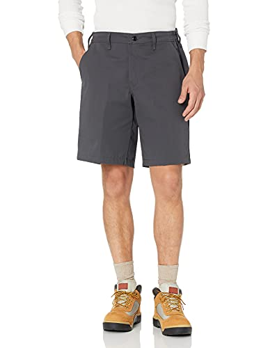 Red Kap Men's Plain Front Side Elastic Short, Charcoal, 38
