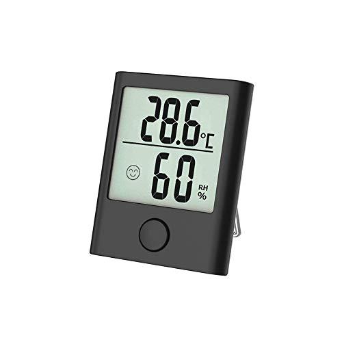 Digitales Mini Thermo Hygrometer Innen Thermometer Hygrometer Digital Temperatur und Feuchtigkeitsmesser Luftfeuchtigkeitsmessgerät mit Klima Monitor für Raumklimakontrolle Raum Zimmer Büro Schwarz