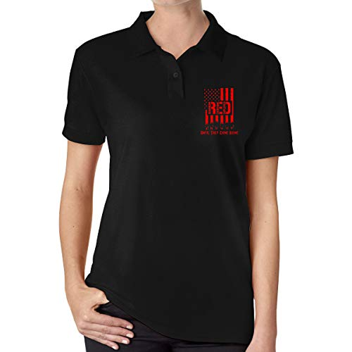 RED Friday Remember Everyone Deployed Women Short Sleeves Polo T Shirt