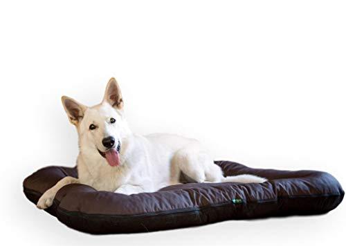 E-dogbed Hundebett by Hundekorb Tierkissen Hundesofa Hundeliege Hundekissen Hundekörbchen Schlafplatz Hundematratze Polyester Farbe und Größe wählbar von M bis XXL (XL - 130x110 cm, Braun)
