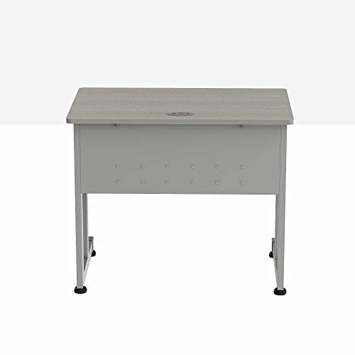 Linea Italia Small Easy to Assemble Metal Computer Desk with Wood Top | Laptop Table...