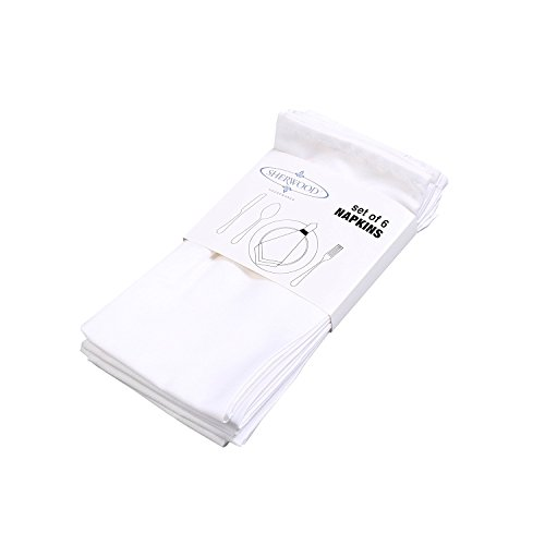 Sherwood poliestere cotone tovaglioli 38,1x 38,1cm (40x 40cm) lavanda durevole qualità hotel tovaglia per hotel, ristoranti, ringraziamento, matrimonio, confezione da 12pezzi White