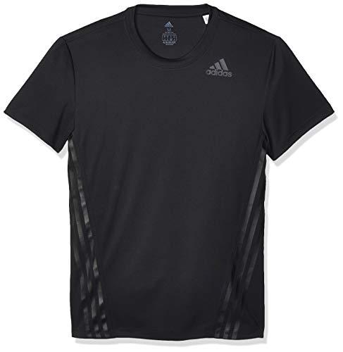 adidas AEROREADY 3 Bandas Camiseta de Entrenamiento de Cuello Redondo, Hombre, Negro (Black), M
