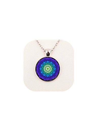 Mandala colgante religioso joyería espiritual amuleto Sacred Geometría Collar Mandala Collar de flores