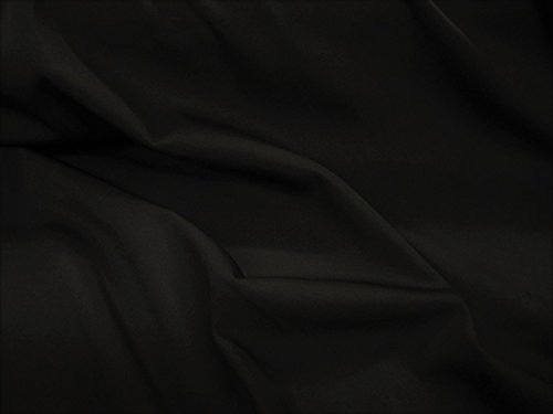 Discount Fabric Scuba 4 Way Stretch Black LY980