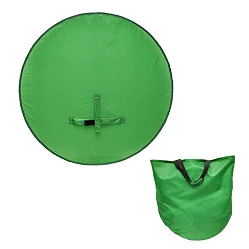 Fondo de pantalla verde de la pantalla verde Fondo de la cámara web con la correa del gancho para la silla para la ventana emergente fotografía plegable 142cm suministros de tiro