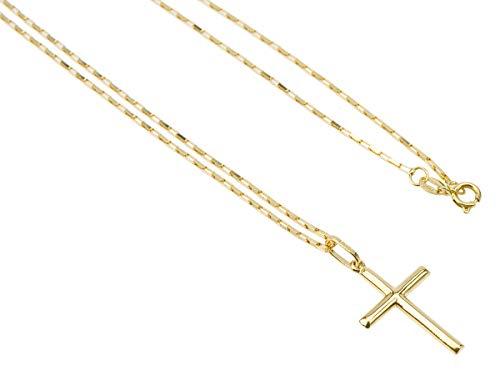 Cordão Corrente Masculina Ouro 70cm Pingente Crucifixo Ouro 18k Cadeado