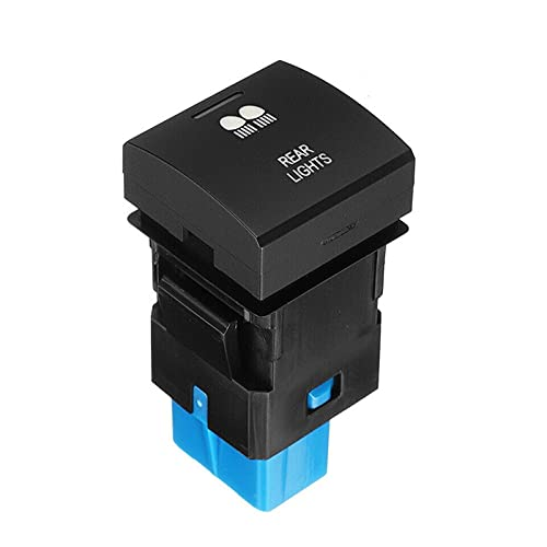 YYAN Interruptor de botón 12V DC ABS Negro Fácil instalación FIT FOR para Toyota Prado 150 HIACE Camry