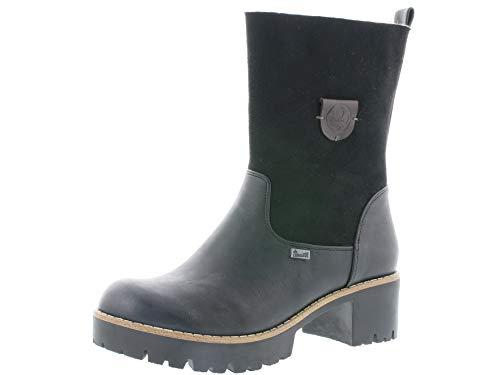 Rieker Damen Stiefeletten 96478, Frauen Stiefelette,riekerTEX, halbstiefel übergangsschuh winterschuh,schwarz,40 EU / 6.5 UK