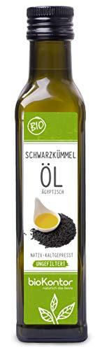 Schwarzkümmelöl ägyptisch BIO - UNGEFILTERT - nativ + kaltgepresst - biokontor - 250 ml