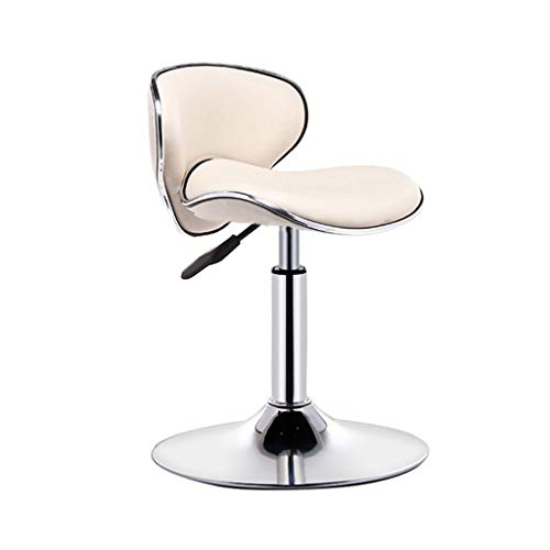 CHY Swivel Bar Stools Adjustable Bar Chairs With Back PU Leather Chair For Kitchen Indoor Home Bar Stool (Color : Beige, Size : Bar stools set of 4)