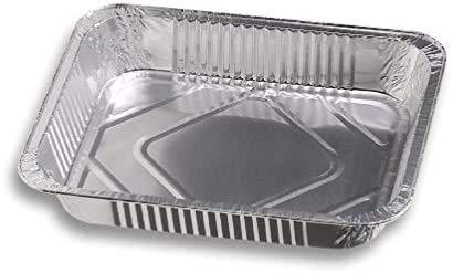 2 bandejas de aluminio de 12 porciones para lasañas, pastas al horno y canelones, bandeja de 5 cm de alto y 39 x 33 cm.