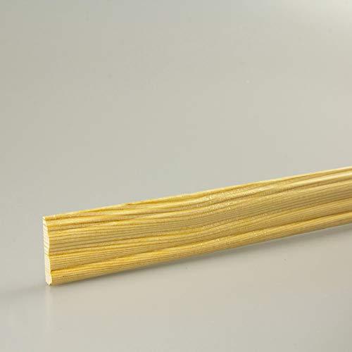 Profilleiste Zierleiste Abschlussleiste Bastelleiste aus geschliffenem Kiefer-Massivholz 1500 x 21 x 6 mm