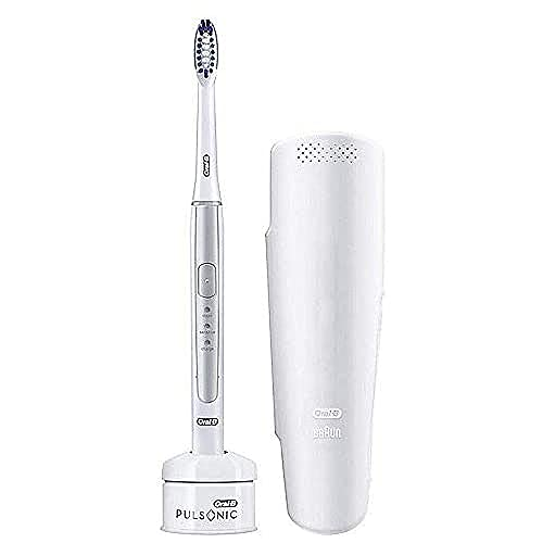 Braun Oral-B Pulsonic Slim 1200 Brosse à dents électrique avec minuteur et étui de voyage Argenté