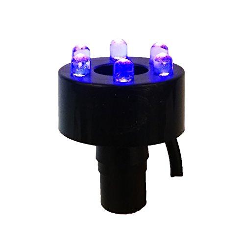 Köhko LED-Ring-Beleuchtung inkl. 2 Meter Anschlusskabel für Quellsteinbrunnen 29002 Blau