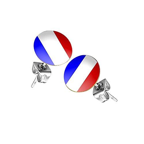 Taffstyle Fanartikel Ohrringe für Fußball WM & EM - Frankreich