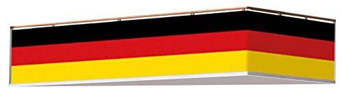 Brandsseller balkonrand Duitsland vlag