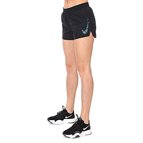 Nike CZ9559-010 W NK Icon Clash 10K Short Pantaloncini Sportivi Donna Black/(Chlorine Blue) XL