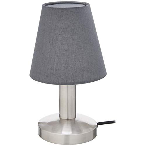Umi. by Amazon - Lámpara de mesa, pantalla de tela, forma de cono, 24,64cm