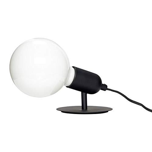 Hubsch - Lámpara de mesa con bombilla de metal (10 cm de altura, color negro)
