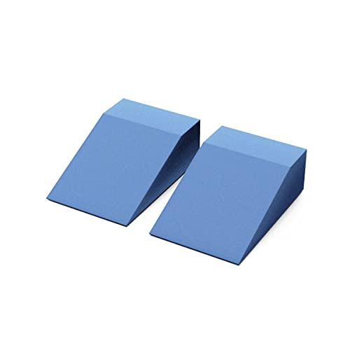 StrongTek Yoga Foam Wedge Blocks (Pair) Soft Wrist Wedge, Supportive...