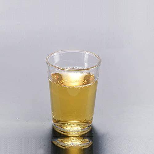 2/4 Uds Copa De Cristal Copa De Chupito Mini Copa De Cristal Templado Copa De Vino Blanco De Alto Espíritu Vasos De Whisky De Fondo Grueso Para Fiesta De Bar