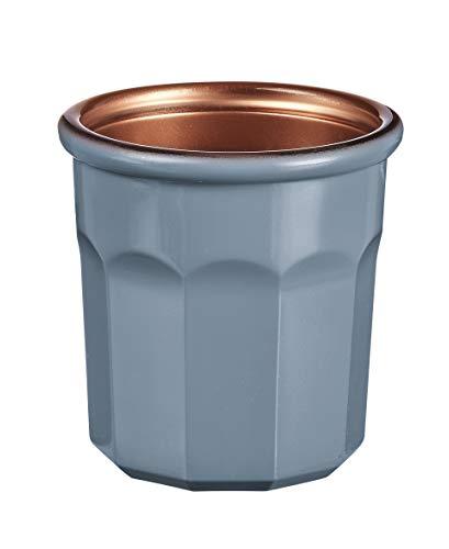 Luminarc – Vaso Carnaval de 9 cl – Vaso para bebidas calientes, vasos y decoración – Compatible con lavavajillas y microondas – Fabricación francesa – Color gris