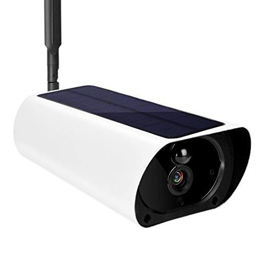 Cámara para Exteriores Cámara CCTV Resistente al Agua Cámara Recargable Cámara de Video de Alta definición, Almacenamiento de Tarjetas, Detección PIR para el hogar, la Escuela, Edificios de