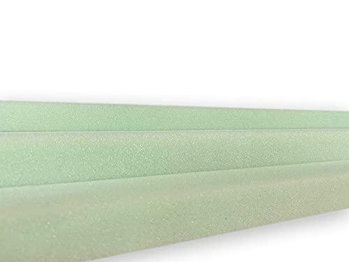 Plancha de Espuma Estándar - Poliuretano - Densidad Dura D30kg (200 x100 x04 cm de Grosor) - Color Verde