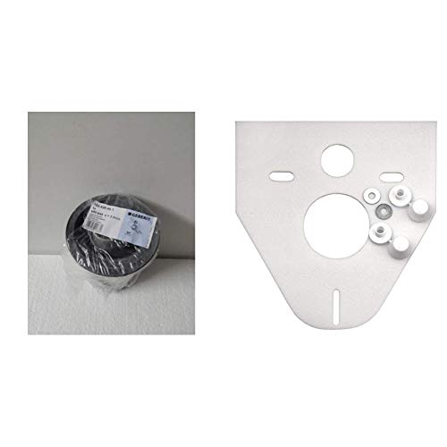 Geberit 152.426.46.1 Anschlussset für Wand-WC PE d90 / 110, 180mm mit Deckkappen & Cornat SSWWC Schallschutz-Set für Wand-WC und Wand-Bidet