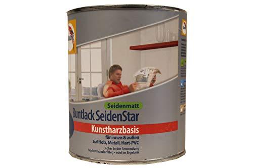 Glasurit Buntlack Kunstharzbasis Enzianblau seidenmatt 750ml